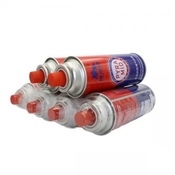 Second hand used refill empty butane gas cartridge canister can cylinder portable stove use