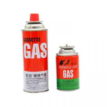 227g Round Shape Portable butane gas cartridge and butane gas canister can cylinder, 220g