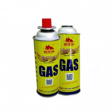 The empty mint tin butane gas canister and mini aerosol butane gas can net weight 220g