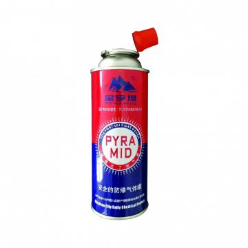 Round Shape Portable Butane aerosol cans 227g and butane gas cartridge
