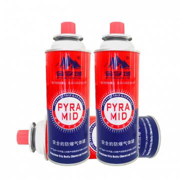 Outdoor gas canister 220g and butane aerosol cans for Butane Gas / Stove